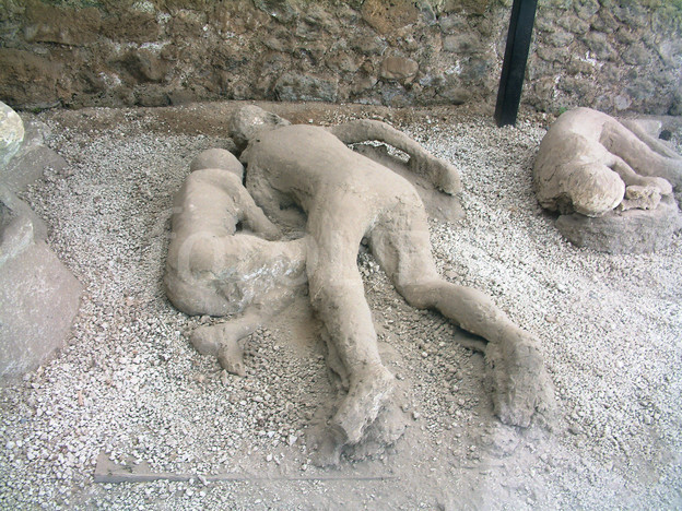 Body cast group at Pompeii